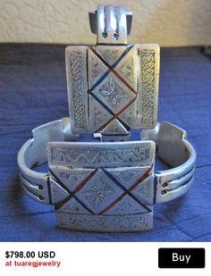 Pair of Tuareg Silver, Anklets or Upperarm Bracelets,  Khal Khal, Mauretanie BY INEKE HEMMINGA