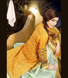 Dhanak Embroidered Lawn Collection ST_2001_A