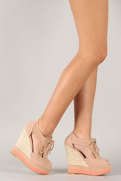 Lace up oxford wedges <3 The best of both worlds!