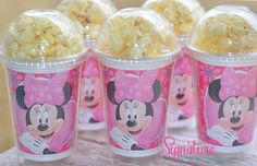 Minnie Mouse Birthday Party Cups-Popcorn Box-Set of 8 on Etsy, $13.40