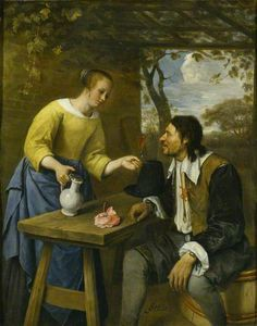 The Tired Traveller, Jan Steen. The Athenaeum Your Paintings, Beautiful Paintings, 17th Century Fashion, Art Through The Ages, Dutch Golden Age, Dutch Painters, Historical Art, In Vino Veritas, Dutch Artists