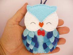 Felt owl ornament felt Christmas ornament Christmas by ynelcas