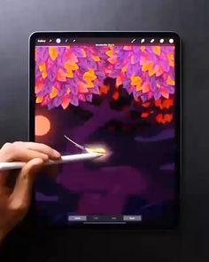 Digital Painting Tutorials, Digital Art Tutorial, Art Tutorials, Illustration Design Graphique, Animation Tutorial, Ipad Art, Amazing Art, Art Drawings, Diy Tutorial