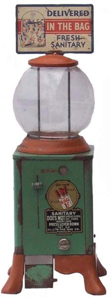 Coin-Op Gumball Machine   Antique Advertising Value and Price Guide