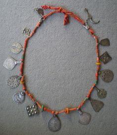 4-5 belles perles Indonésien avec ornement en métal Clay Bead tonperlen Argent