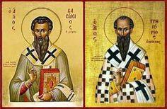 Santos Basilio Magno y Gregorio Nacianceno, Obispos y Doctores de la Iglesia ...