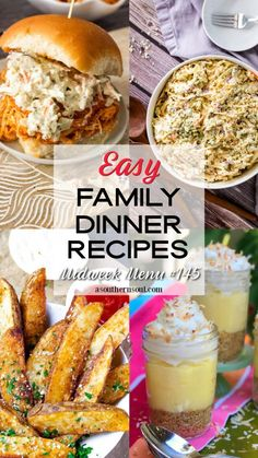 Healthy Side Dishes, Side Dish Recipes, Easy Weeknight Meals, Easy Meals, Healthy Dinners, Blue Cheese Coleslaw, Seasoned Potato Wedges, Buffalo Chicken Sandwiches, Easy Family Dinners