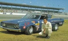 Ford Trino Talledega by David Pearson - 1968 Nascar Cars, Nascar Racing, Auto Racing, Ford Stock, Bill Elliott, Classic Race Cars, American Auto, Daytona 500, Old Fords
