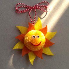 Слънчо Baba Marta, Pom Pom Crafts, Spring Activities, Crafty Kids, Rakhi, Felt Toys, Cross Stitch Embroidery, Crochet Baby, Diy And Crafts