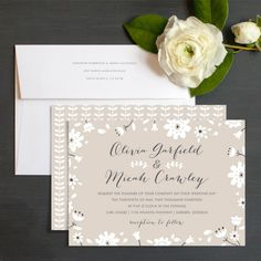 Botanical Blooms Wedding Invitations by Elli