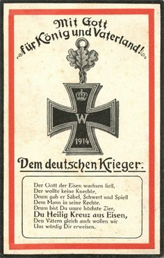 Mit Gott für König und Vaterland. Ernst Moritz Arndt, Der Gott der Eisen wachsen ließ ... Verlag Wilhelm Erbert, Berlin Ernst Moritz Arndt, Cross Of Iron, War Machine, World War I, Military History, Vikings, Germany, Postcards, Berlin