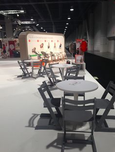 Stokke Tripp Trapp chairs in Storm Grey at ABC Kids Expo in Las Vegas 2014