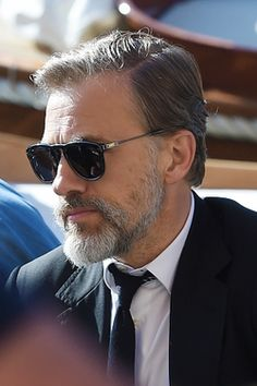 Christoph Waltz - IWC photoshoot in Italy Hans Landa, Most Handsome Actors, Water For Elephants, Christoph Waltz, Falling In Love With Him, Fine Men, Quentin Tarantino, Actors & Actresses, Mens Sunglasses