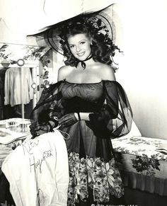 Rita Hayworth  Being so very beautiful, (at times wealthy) and talented does not guarantee happiness. She was so very beautiful and to die of alzheimer's was sad. I loved her movies.