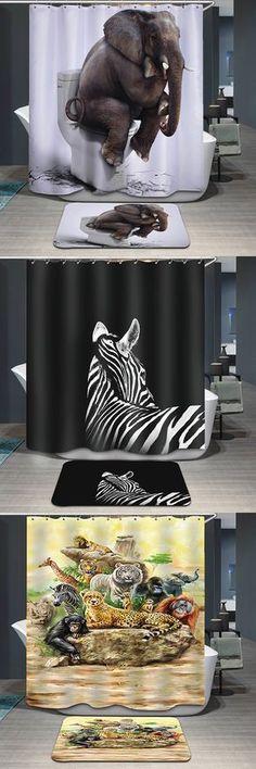 Pattern Printing Waterproof Shower Curtain