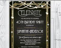 Great gatsby bridal shower invitation digital file by blushlove great gatsby bridal shower invitation digital file by blushlove 800 jessicas shower pinterest gatsby shower invitations and bridal showers filmwisefo