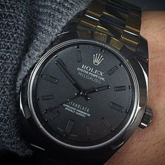 """Titan Black Rolex Milgauss - cc: @LuxuryLifestyleMagazine Photo @TitanBlackOut"" Photo taken by @_thewatchgallery_ on Instagram, pinned via the InstaPin iOS App! http://www.instapinapp.com (02/02/2015)"
