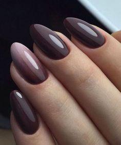 The Best Winter Nail Art Design Ideas - matte Nägel - Winter Purple Glitter Nails, Gradient Nails, Matte Nails, Acrylic Nails, Matte Gel, Silver Glitter, Winter Nails Colors 2019, Nail Colors, Fall Gel Nails