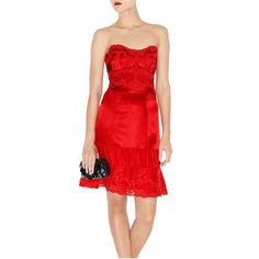 Karen Millen Lace Embroidery Dress Red