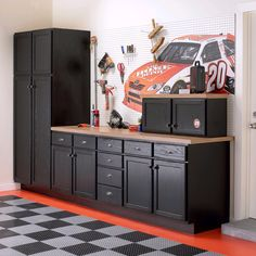 Idea Graphite Garage Painted Cabinetry Not Much Else Imho