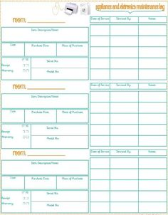 Printables for Home Inventory - good to have for insurance purposes. . . But would I actually use it. . .