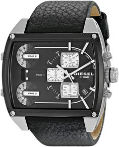 1c8a6a890bbd Diesel Men s Analog Display Analog Quartz Black Watch Reloj Diesel