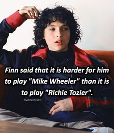 """Mike or Richie? #strangerthings #strangerthings2 #itmovie2017 #finnwolfhard"""