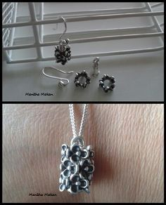 PANDORA. Clever Way to Combine Pandora Earring Hooks, Earring Tubes and Pansy Spacers and Create Earrings and a Necklace Pendant!!