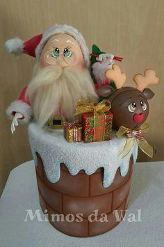 #Dulcero #adorno #santa claus #gomaevanavidad Red Christmas Ornaments, Christmas Gingerbread, Christmas Deco, Felt Ornaments, Christmas Candy, Kids Christmas, Christmas Crafts, Merry Christmas, Christmas Cake Designs