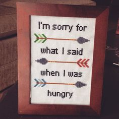 I'm sorry for what I said when I was hungry by Cheeky Cross Stitching