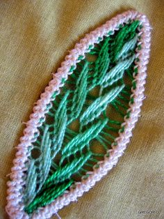 MACRAME' RUMENO - POINT LACE: NEW!!! RICAMO PETALO