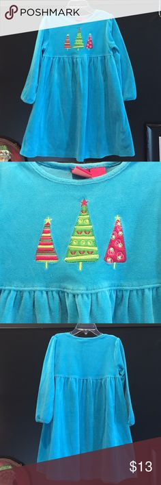 J Khaki Christmas dress J Khaki Christmas dress, size 4.  Teal blue velour with Christmas trees.  Adorable dress! J Khaki Dresses Casual