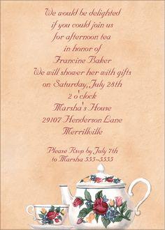 tea party invitation ideas for ladies -