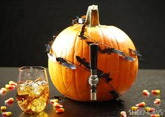 Pumpkin carving is no longer just for kids. Wow partygoers with this pumpkin keg and spiced sangria. | #Fall #Recipes