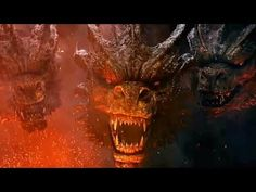 Monsterverse King Ghidorah - Godzilla: King of the Monsters Trailer Screenshots Image Gallery Godzilla Comics, Godzilla Vs, Monster Verse, Pacific Rim Kaiju, Godzilla Wallpaper, Little Poney, Dragon Statue, Film Aesthetic, King Kong