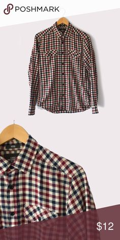 H&M L.O.G.G Fitted Plaid Shirt H&M | size Small | long sleeves | button front closure | pockets at chest | all pictures taken by me product shown as is H&M Shirts Casual Button Down Shirts
