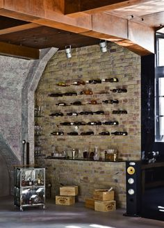 Cool way to display wine.