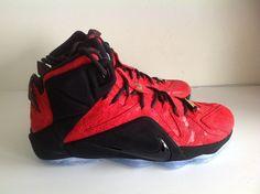 Nike Lebron XII EXT University Red Paisley 748861 600 size 9.5 via  housakicks. Click on 7a2261987
