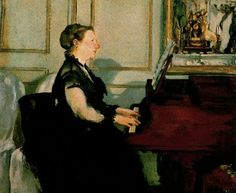 TICMUSart: Mme. Manet al Piano - Edouard Manet (1868) (I. M.)
