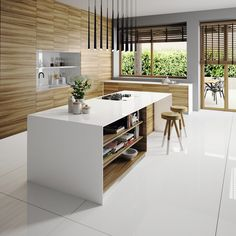 It doesn´t matter your style, #Silestone Iconic White radiant white can be adapted to all of them! We are stunned by this color versatility, do you LIKE how it looks like combined with wood in this Scandinavian style kitchen? #interiordesign #homedecor