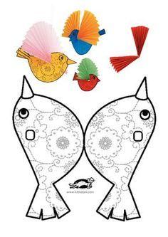 27 New ideas diy paper birds kids Kids Crafts, Summer Crafts, Arts And Crafts, Paper Birds, Bird Theme, Animal Crafts, Paper Toys, Diy For Kids, Art Lessons