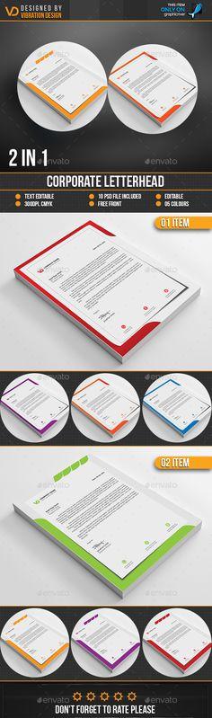 Corporate Letterhead Bundle by kawsarnshimo Letterhead Printing, Stationery Printing, Letterhead Template, Stationery Items, Letterhead Design Inspiration, Print Templates, Design Templates, Web Design, Design Ideas