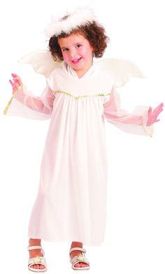 disfraz de ngel blanco nia