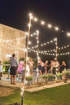 Ideas para la recepción de bodas íntimas. Aprovecha el jardín para ahorrar en el salón de bodas.