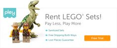 Did you know you can rent LEGO sets?  My kids love Legos!  Free trial at this link.  #lego #love2pley