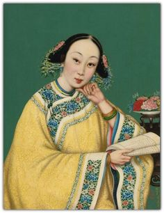 PAINTING OF COURTESAN - QING DYNASTY, 19TH CENTURY