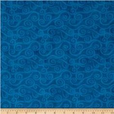 "108"" Wide Quilt Back Swirly Scroll Blue"