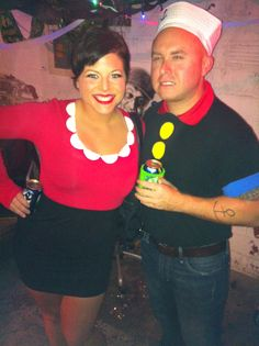 Popeye and olive oyl costumes couples costume 5999 holiday popeye and olive oyl our homemade costumes solutioingenieria Images