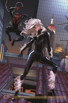 Superior Spider-Man and Black Cat by Giuseppe Camuncoli