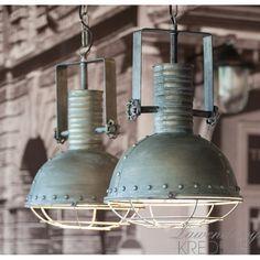 Piękne lampy industrialne na stylowych łańcuchach. Więcej na www.lawendowykredens.pl!